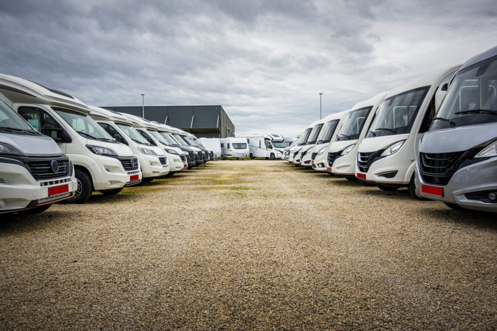 buy a used rv row of rvs for sale